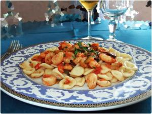 Piatto Primo Orecchiette fatte mano Gamberi Zucchine