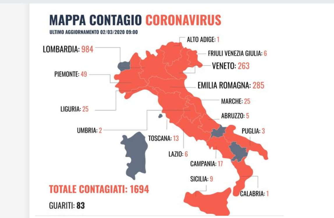 Mappa Contagio