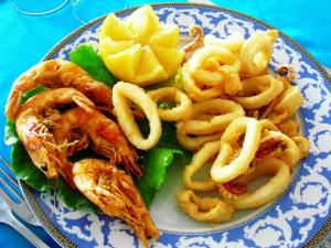 Piatto Frittura Calamari Gamberi