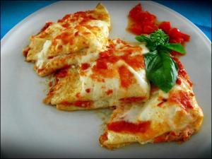 Piatto Primo Crepes Salate Ricotta Fresca Soppressata