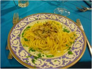 Piatto Primo Spaghetti Alici fresche